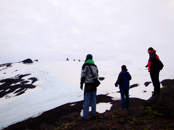 En la base del glaciar, subida poco recomendada