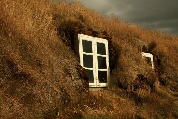 Turf houses, detalle.